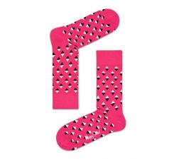 Růžové ponožky Happy  Socks s barevnými kosočtverečky, vzor Mini Diamond