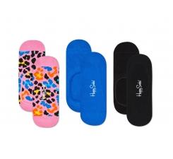 Nízké vykrojené ponožky Happy Socks, vzor Multi Leo - tři páry