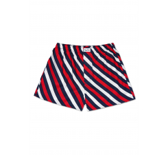 Barevné pruhované trenýrky Happy Socks, vzor Polka