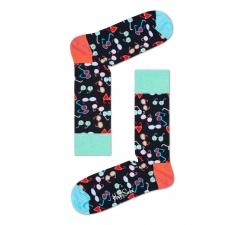 Černé ponožky Happy Socks s barevnými brýlemi, vzor Shades