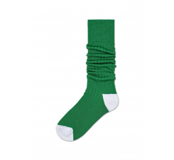 Dámské zelené podkolenky Happy Socks Cilla // kolekce Hysteria