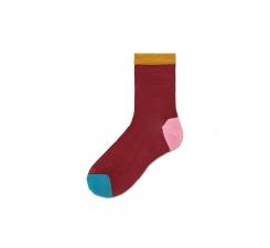 Dámské červené ponožky Happy Socks Grace I // kolekce Hysteria