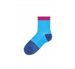 Dámské modré ponožky Happy Socks Janna // kolekce Hysteria