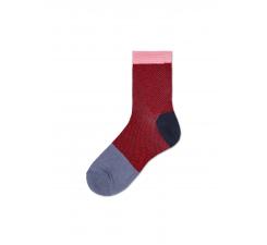 Dámské červeno-šedé ponožky Happy Socks Jill  // kolekce Hysteria