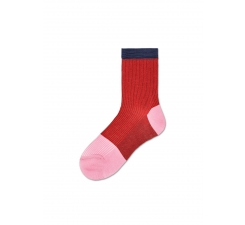 Dámské červené ponožky Happy Socks Janni // kolekce Hysteria