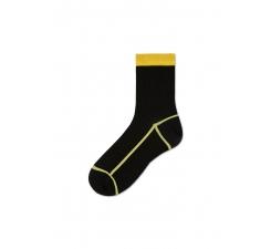 Dámské černo-žluté ponožky Happy Socks Lily // kolekce Hysteria