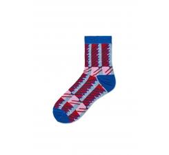 Dámské modro-červené ponožky Happy Socks Magda // kolekce Hysteria