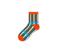 Dámské oranžovo-zelené ponožky Happy Socks Magda // kolekce Hysteria