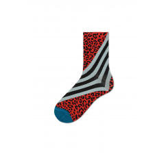 Dámské červené ponožky Happy Socks Samanta // kolekce Hysteria