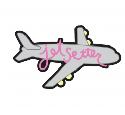 Odznáček Jibbitz - Jetsetter Plane