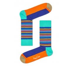 Barevné ponožky Happy Socks s pruhy, vzor Easter Half Stripe