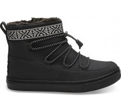 Dětské černé kotníkové boty TOMS Youth Alpine