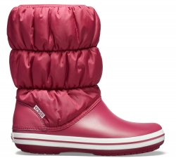 Winter Puff Boot Women - Pomegranate/White W10