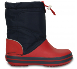 Crocband LodgePoint Boot K Navy/Red