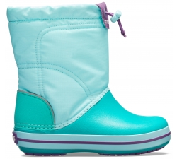 Crocband LodgePoint Boot K - Ice Blue/Tropical Teal C10