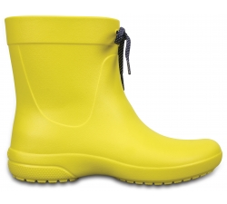 Crocs Freesail Shorty RainBoot - Lemon W6
