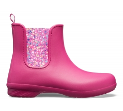 Crocs Freesail Chelsea Boot - Berry/Dots W10