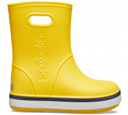 Crocband Rain Boot K Yellow/Navy C10