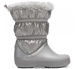 Crocband LodgePoint Metallic Boot G Silver Metallic C10