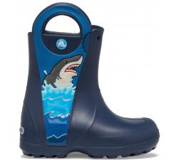 CrocsFL Shark Ptch Rain Boot B Navy