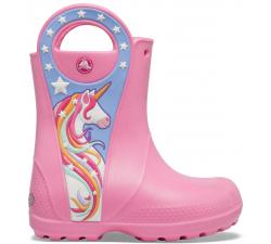 CrocsFL Uncrn Ptch Rain Boot G Pink Lemonade