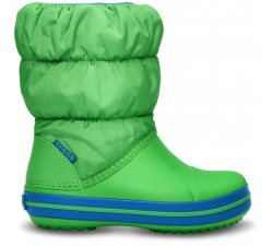 Winter Puff Boot Kids Lime/Sbl C6