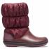 Winter Puff Boot Women Burgundy/Black