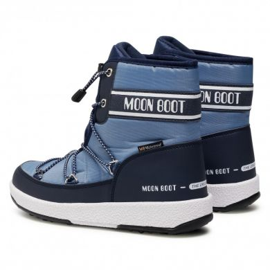 Dětské modré sněhule Moon Boot JR Boy Mid WP 2