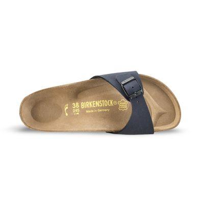 Modré pantofle Birkenstock Madrid Birko-Flor Nubuck