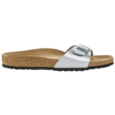 Stříbrné pantofle Birkenstock Madrid Birko-Flor Patent