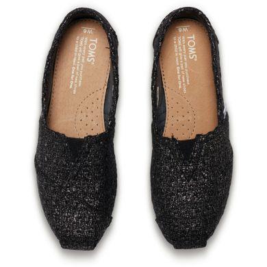 Černé dámské vlněné TOMS Glitter Alpargatas