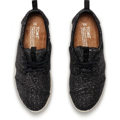 Černé dámské tenisky TOMS Glitter Del Rey