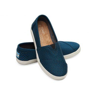 Modro-černé dámské TOMS Mesh Avalon Slip-on