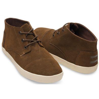 Hnědé pánské semišové kotníkové boty TOMS Paseo