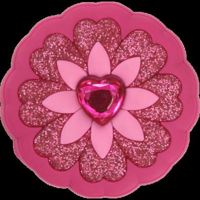 Odznáček Jibbitz - Rhinestone Heart Flower
