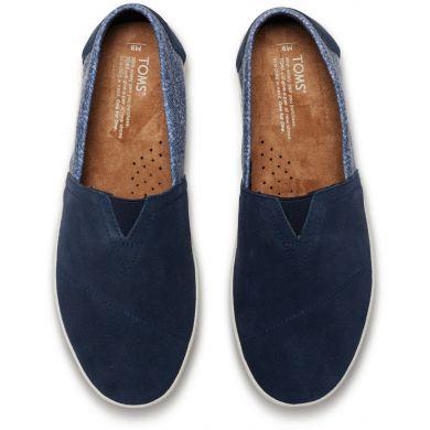 Modré pánské TOMS Herringbone Avalon Slip-on
