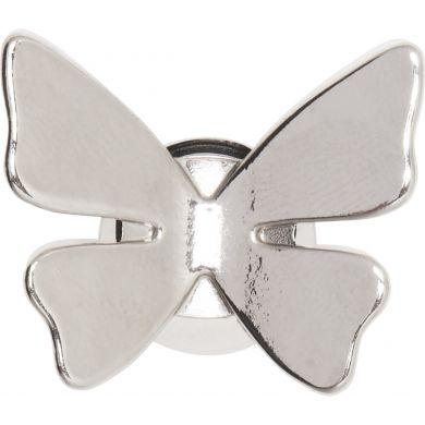 Odznáček Jibbitz - 3D Butterfly Silver