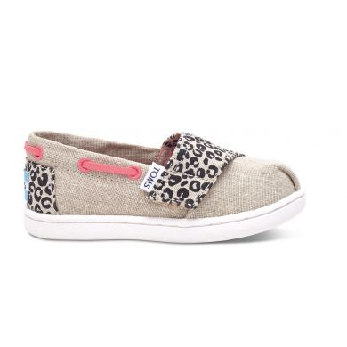 Dětské béžové TOMS Tiny Cheetah Biminis