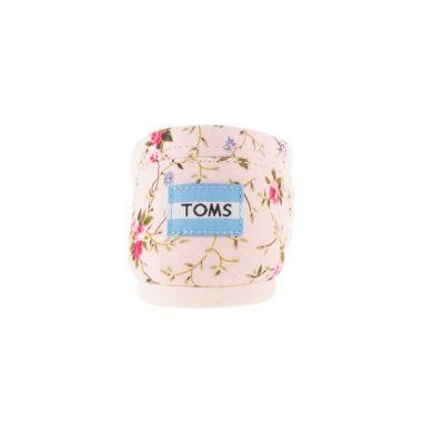 Růžové dámské TOMS Floral Alpargata s kytičkami