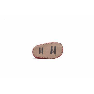 Dětské červené TOMS Tiny Crib Alpargata