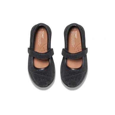Dětské černé balerínky TOMS Glimmer Tiny Mary Jane