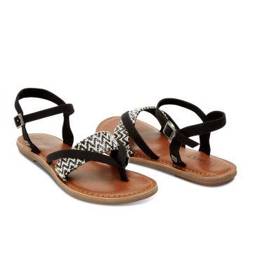 Dámské černobílé sandálky TOMS Lexie Sandal