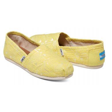 Žluté dámské TOMS Tribal Alpargatas