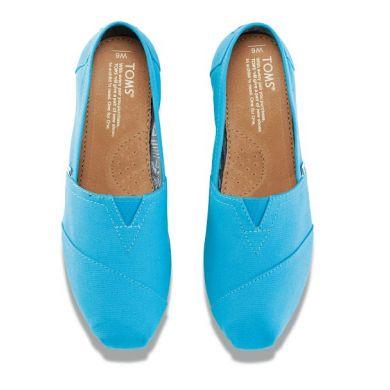 Modré dámské TOMS Peacock Classic Alpargatas