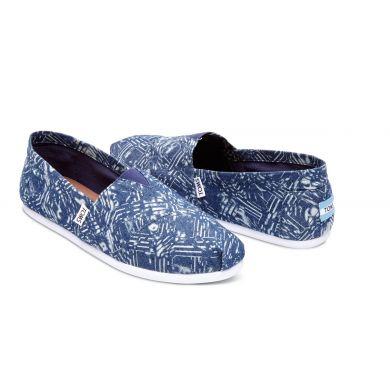 Modré pánské TOMS Batik Alpargatas