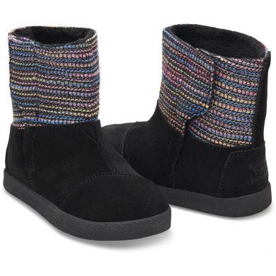 Dětské černé vysoké boty TOMS Tiny Nepal