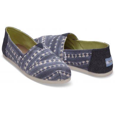 Dámské modré TOMS Batik Seasonal Classics Alpargatas