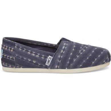 Pánské modré TOMS Batik Stripe Seasonal Classics Alpargatas