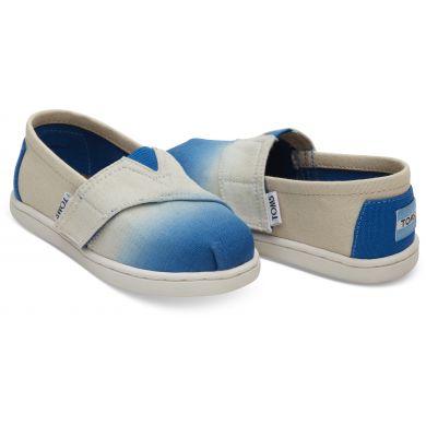 Dětské krémovo-modré TOMS Dye Seasonal Classics Tiny Alpargatas