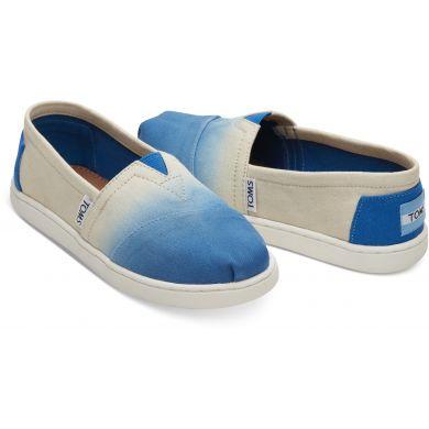 Dětské krémovo-modré TOMS Dye Seasonal Classics Youth Alpargatas
